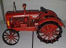 Traktor aus Metall, handbemalt, 28 x 15 x 12,7 cm,