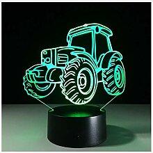 Traktor-Energiebank Usb Der Nachtlicht-Lampe 3D
