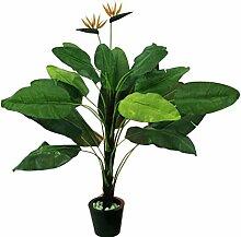Tralizie, Staude mit 22 Blätter und 2 Blüten, Höhe 230cm - künstliche Pflanzen Dekopflanzen Kunstpflanzen