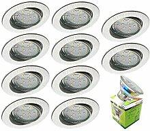 Trango 10er Set LED Einbaustrahler in Rund