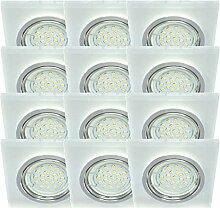 Trango 12er Set Design LED Einbaustrahler