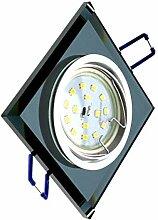Trango 1x (TG6736S-01MO Schwarz-Glas) LUXUS Design