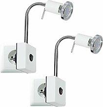 Trango 2er Pack LED Steckerleuchte Nachtlicht