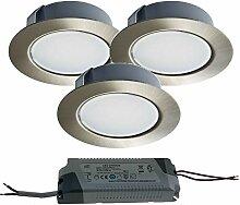 Trango 3er Pack LED Möbeleinbauleuchte