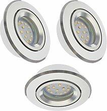 Trango 3er Set dimmbaren LED Einbaustrahler aus