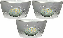 Trango 3er Set IP44 dimmbare LED Einbaustrahler in