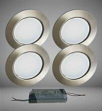 Trango 4er Set G4E-042T LED Möbel Einbaustrahler