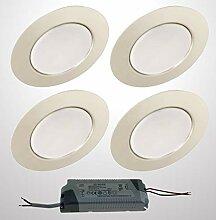 Trango 4er Set G4E-048T LED Möbel Einbaustrahler