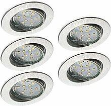 Trango 5er Set TG6729-059GU5SD dimmbare LED