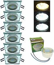 Trango 6er Pack Design handgschliffenem Glas & Alu