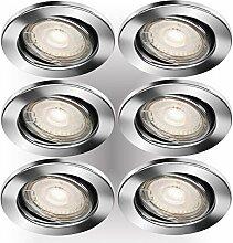 Trango 6er Pack LED Einbaustrahler, Einbauleuchte,