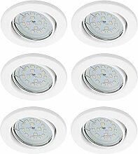 Trango 6er Pack Ultra flache LED Einbaustrahler,