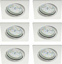 Trango 6er Pack Ultra flache LED Einbaustrahler I