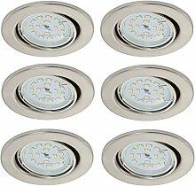 Trango 6er Pack ultra flache LED Einbaustrahler