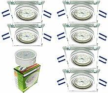 Trango 6er Set Design LED Einbaustrahler