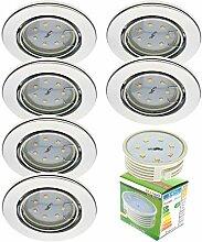 Trango 6er Set Einbaustrahler Rund Chrom incl. 6x