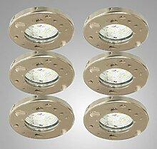 Trango 6er Set IP44 LED Einbaustrahler
