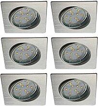 Trango 6er Set LED Einbaustrahler Aluminum