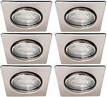 Trango 6er Set LED Einbaustrahler in Nickel matt