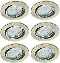 Trango 6er Set LED Einbaustrahler TG6729-062B