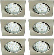 Trango 6er Set LED Einbaustrahler TG6729-062SB in