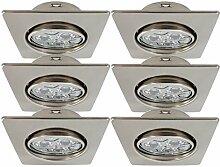 Trango 6er Set LED Einbaustrahler TG6729-062SHP in