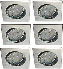 Trango 6er Set LED Einbaustrahler TG6729-069SB in