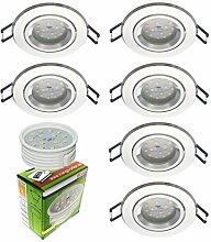 Trango 6er Set ultra flache LED Einbaustrahler aus