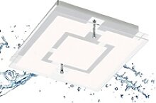 TRANGO LED Deckenleuchte, 3103 IP44 Feuchtraum LED