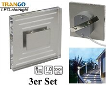 TRANGO LED Einbauleuchte, 3er Set SL-033 LED
