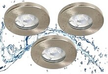 TRANGO LED Einbauleuchte, 6729IP65-032G6KSDAK 3er