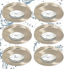 TRANGO LED Einbauleuchte, 6729IP65-062G6KSDAK 6er