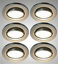 TRANGO LED Einbauleuchte, 6er Set 6729-062MO LED