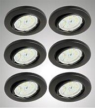 TRANGO LED Einbauleuchte, 6er Set LED