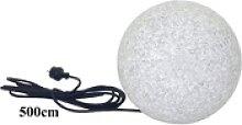 TRANGO LED Gartenleuchte Granitstein-Optik, 1er