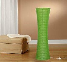 Trango Reispapier Papier Stehleuchte Stehlampe modernem Design 125cm Hoch (grün inkl. 2x LED LM TG1229-027GL)