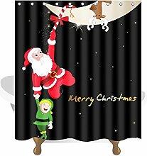 Transer Merry Christmas Custom Duschvorhang mit