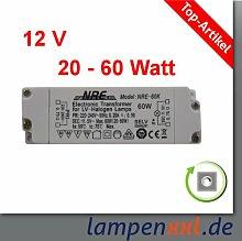 Transformator 20 - 60 Watt, elektronischer Halogen Trafo VDE 12V