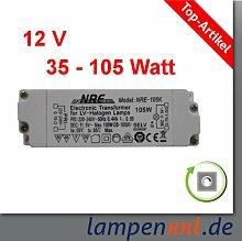 Transformator 35 - 105 Watt, elektronischer Halogen Trafo VDE 12V