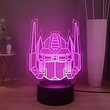 Transformers 3D LED Night Light, Optimus Prime