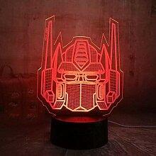 Transformers 3D Nachtlicht LED Schlafzimmer