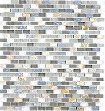 Transluzent Glasmosaik Verbund Stein Muschel grau