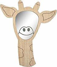 Transomnia Bilderrahmen Giraffe Kinder Wandspiegel aus Holz