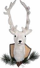 Transpac Hirschkopf, weihnachtlich, Weiß