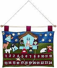 Transpac Kinder-Adventskalender aus Stoff, Motiv