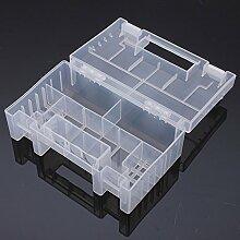 Transparent Plastic Battery Holder Aufbewahrungskoffer für AA AAA Werkzeuge Box