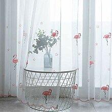 Transparent Vorhang Flamingo Tulle Gardinen