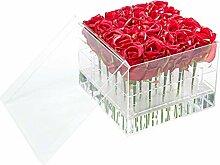 Transparente Acryl-Rosen-Blumen-Box Romantische