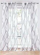Transparente Gardine mit Druck (1er Pack)