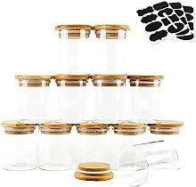 Transparente Glasdosen 150 ml mit luftdichtem